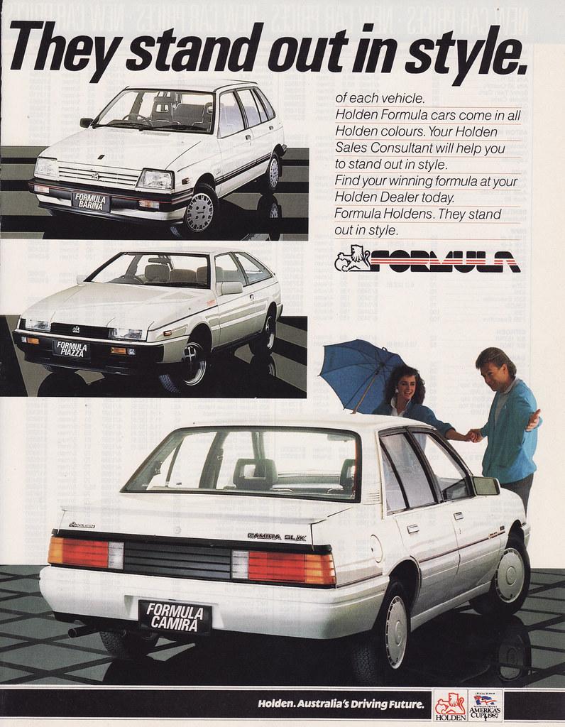 1987 Holden Formula Ad Australia Camira Barina Amp Piaz