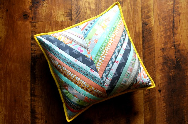 Herringbone QAYG Pillow