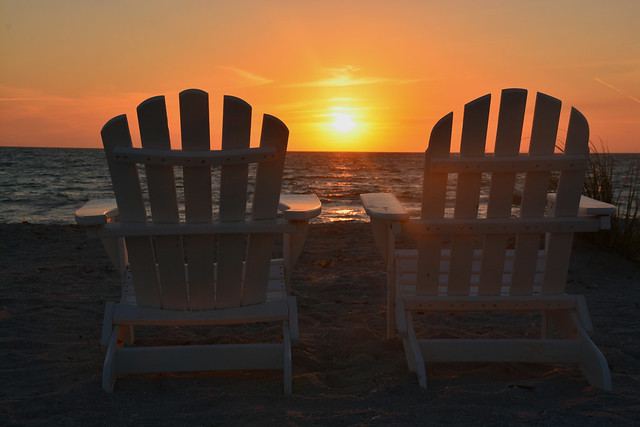 Adirondack Chairs On Beach Sunset. Interesting Chairs Throughout Adirondack  Chairs On Beach Sunset Flickr