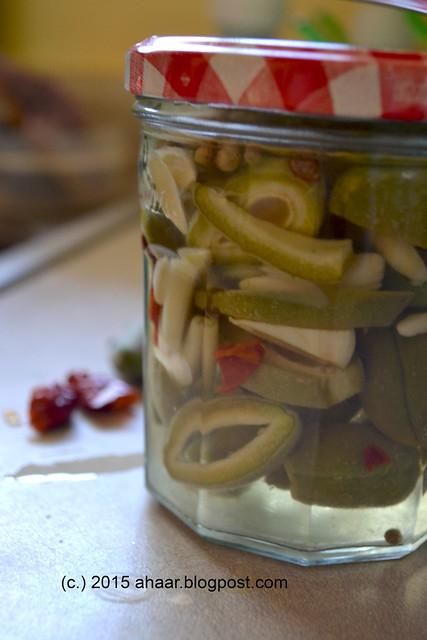 Green almond pickle