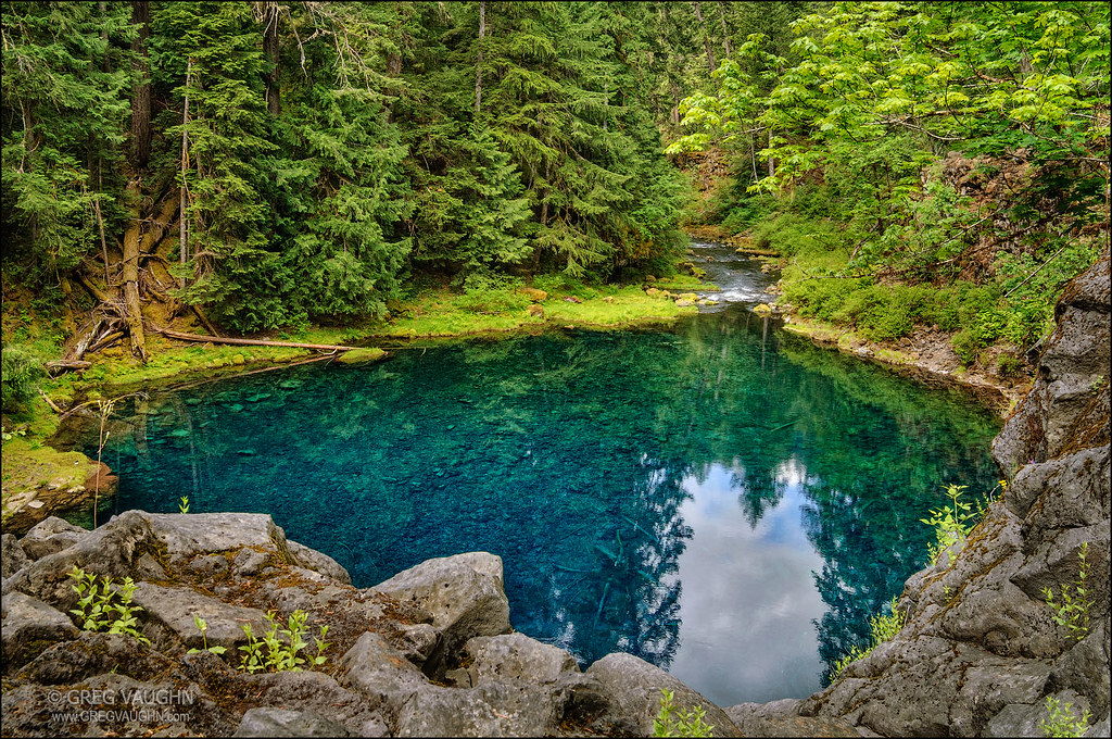 ... Blue Pool, McKenzie River, Oregon | By Greg Vaughn