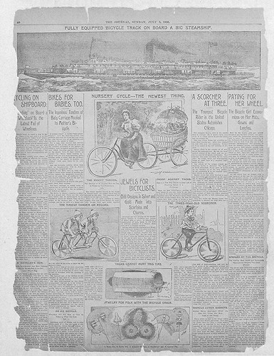 The Journal full page on cycling 1896