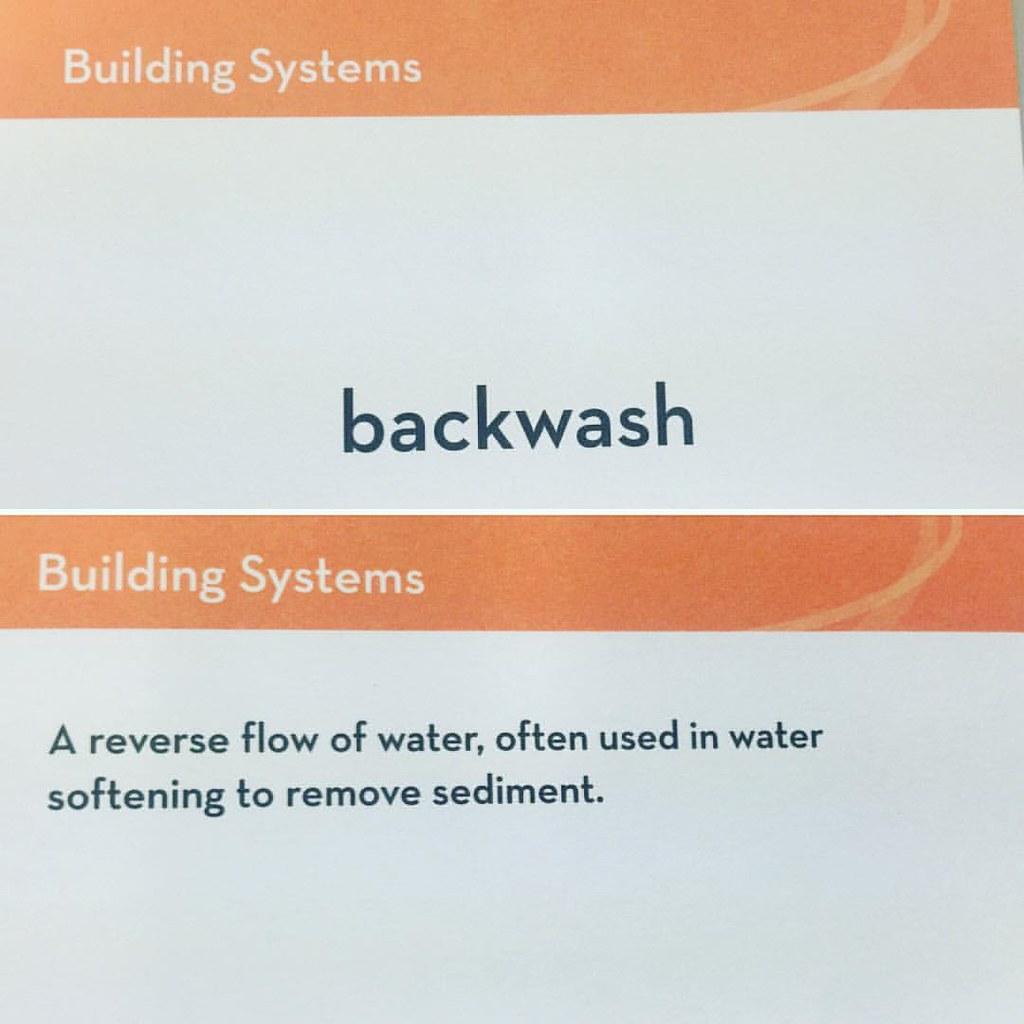 define backwash