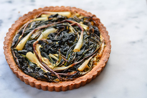 ramp + mushroom + goat cheese tart | by little city nest