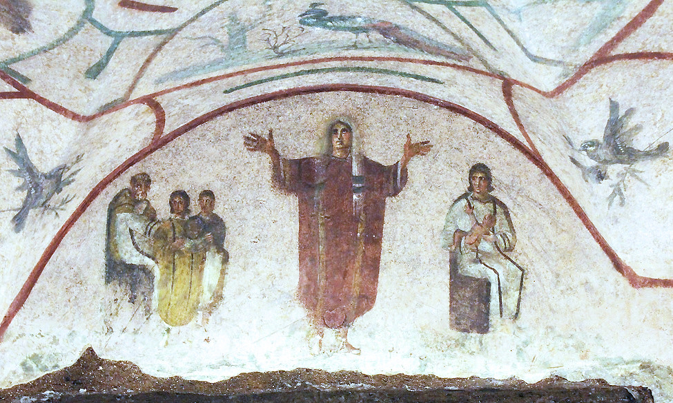 Orant Catacomb Of Priscilla Catacomb Of Priscilla Rome