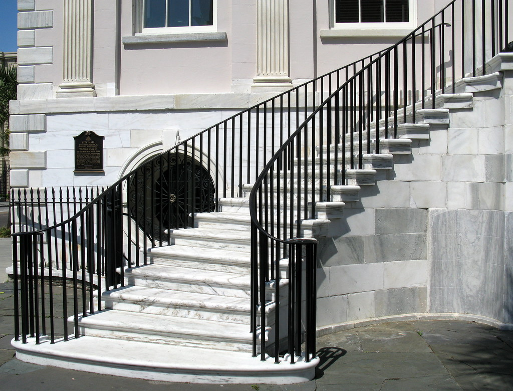 Half Of The Graceful Double Sided Marble Staircase City H