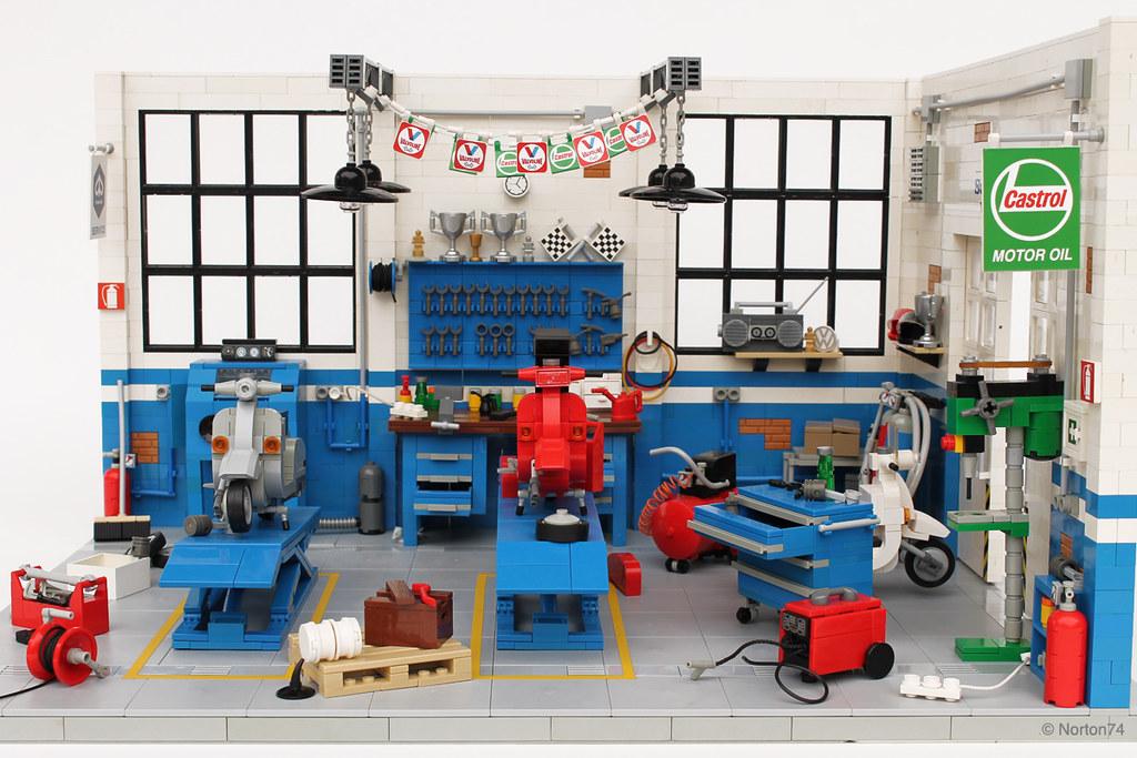 Dream garage officina super sprint classic vespa works for Officina garage indipendente