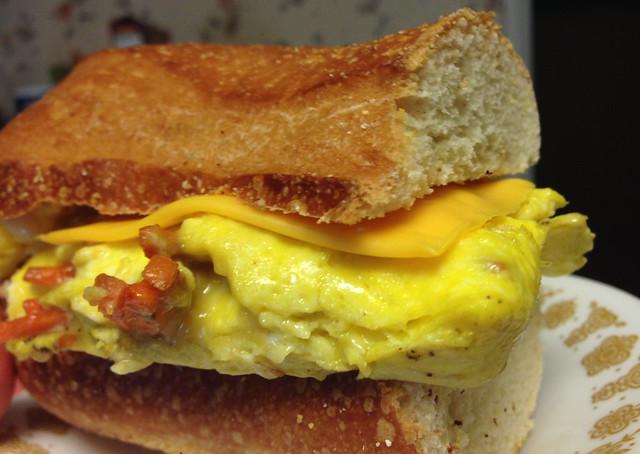 Roasted Carrot Breakfast Sandwich