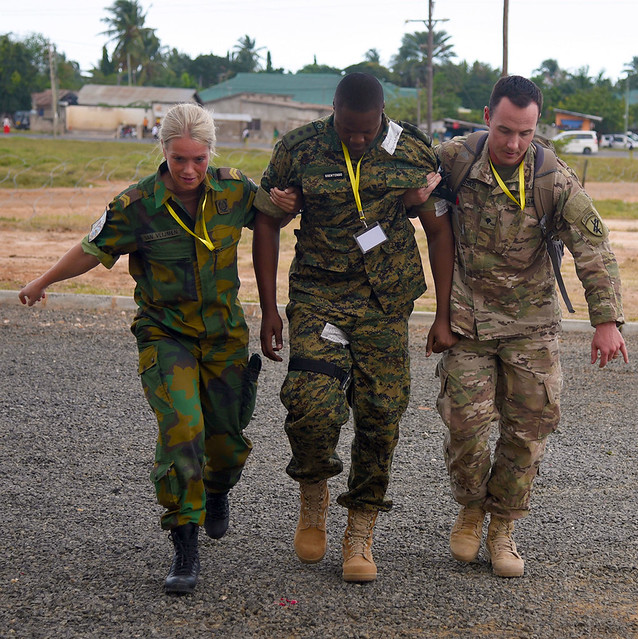 Multinational medical training at Eastern Accord 2016