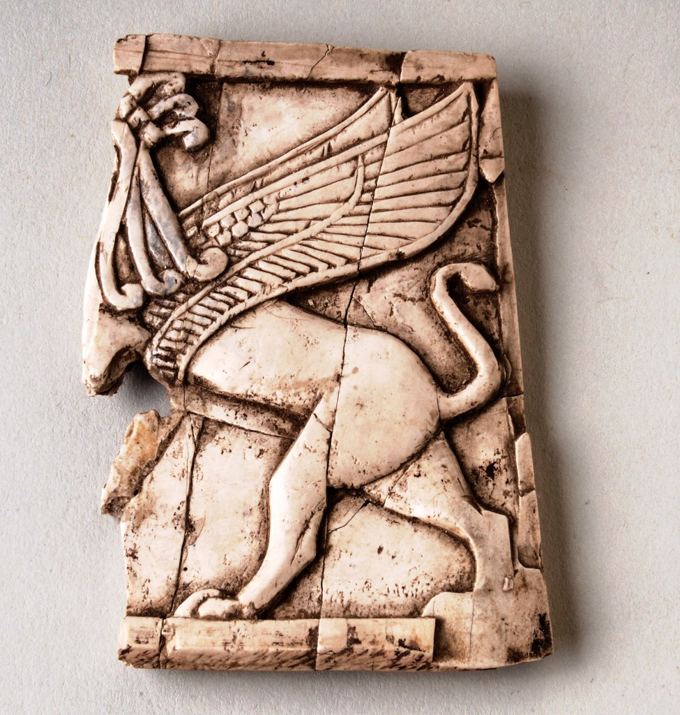 ... Nimrud Ivory Griffin Furniture Inlay   858 681 BC | By BoltonLMS