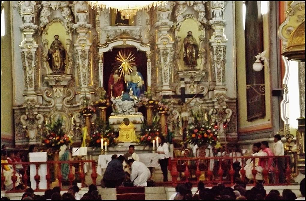 Jueven Santo en la Catedral de Puebla