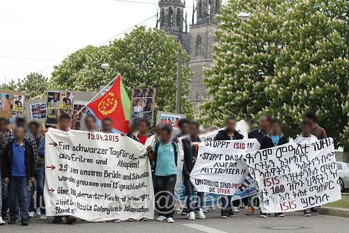 Demonstration gegen ISIS