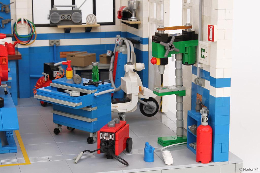 Dream garage officina super sprint classic vespa works for Piani di officina di garage