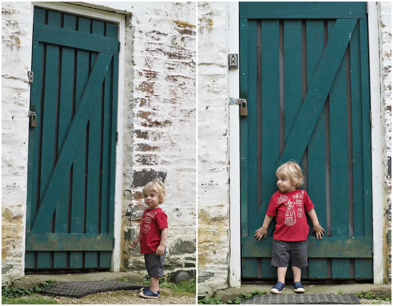Auggie and the Lock House Collage