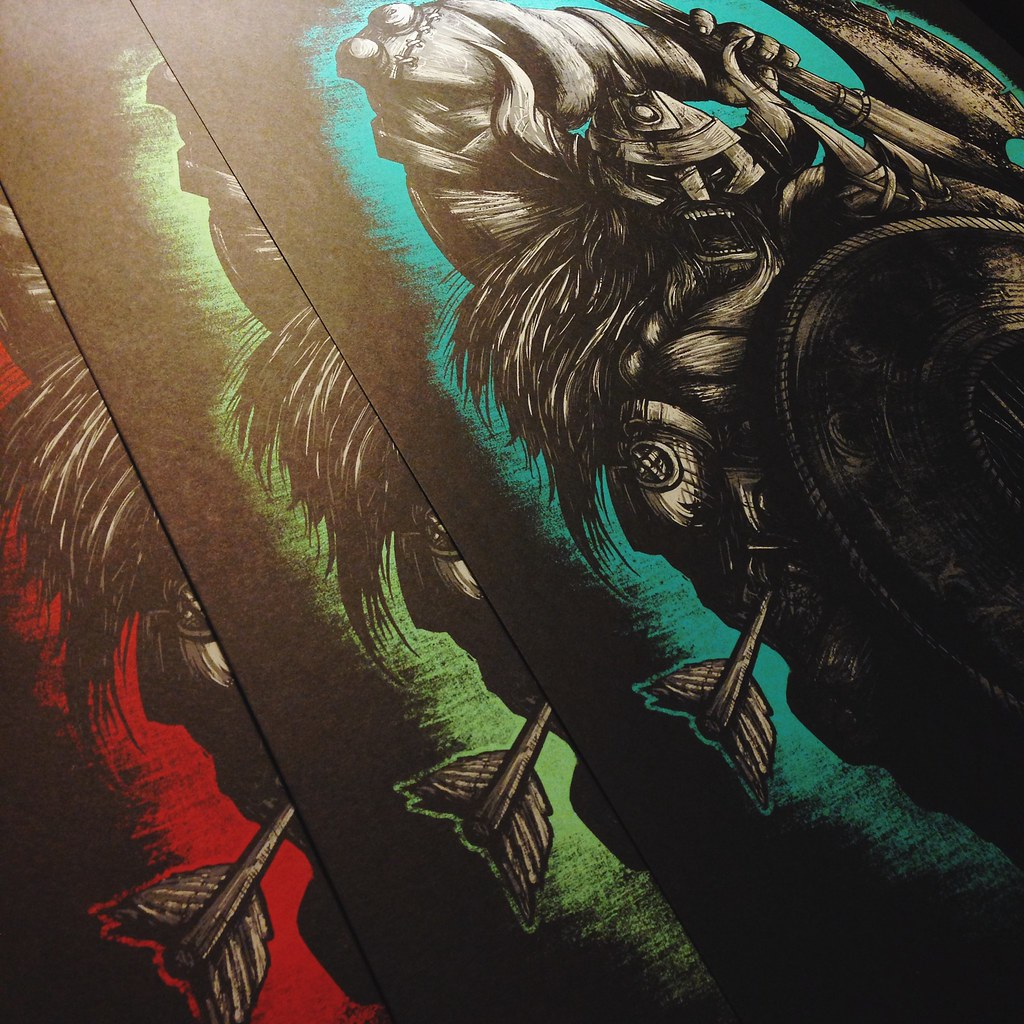 Matt Johnson Seventh Fury Viking Screenprints