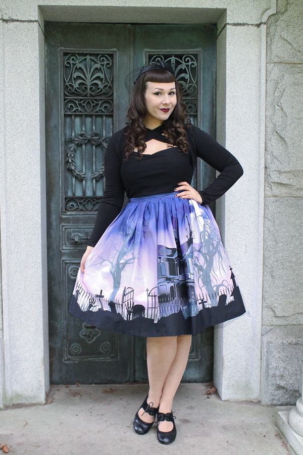 unique vintage haunted mansion skirt