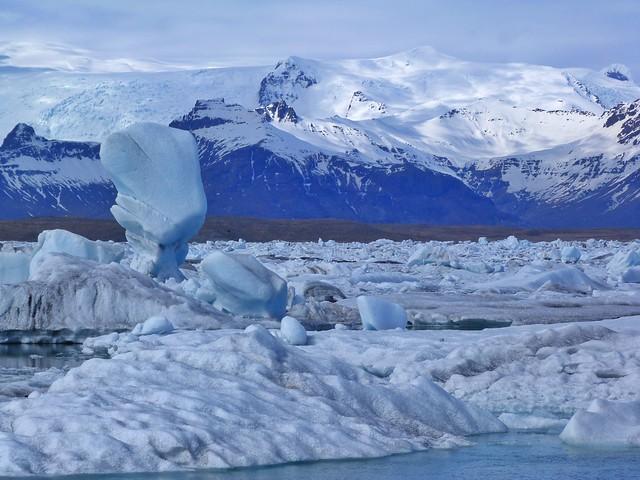 Laguna Jokulsarlon en Islandia