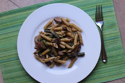 Penne with Asparagus and Mushrooms :: coppertopkitchen.blogspot.com