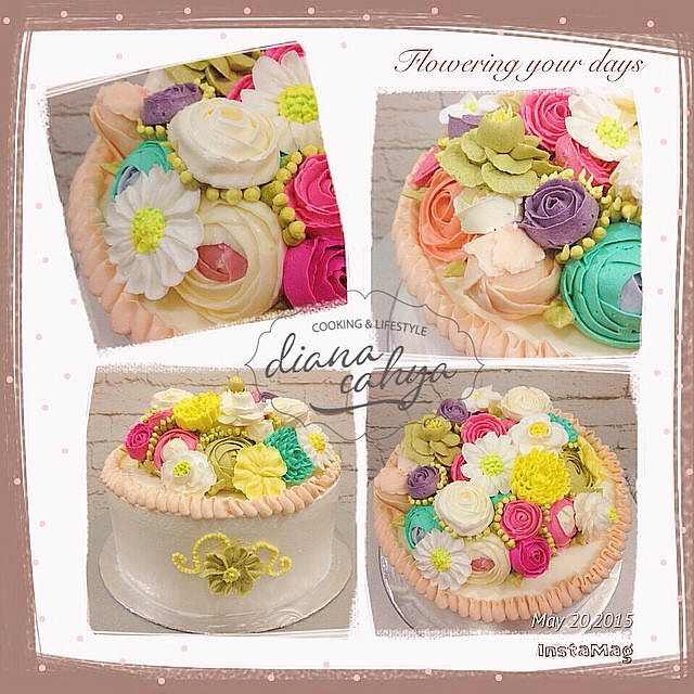 Learning about the flowers ????????????????    #Buttercream #Gardenia #Daisy #Rose #WildRose #AppleBlossom #ForgetMeNot #Primrose #Chrysanthemum #Ranunculus #Tulip #DianaCahya