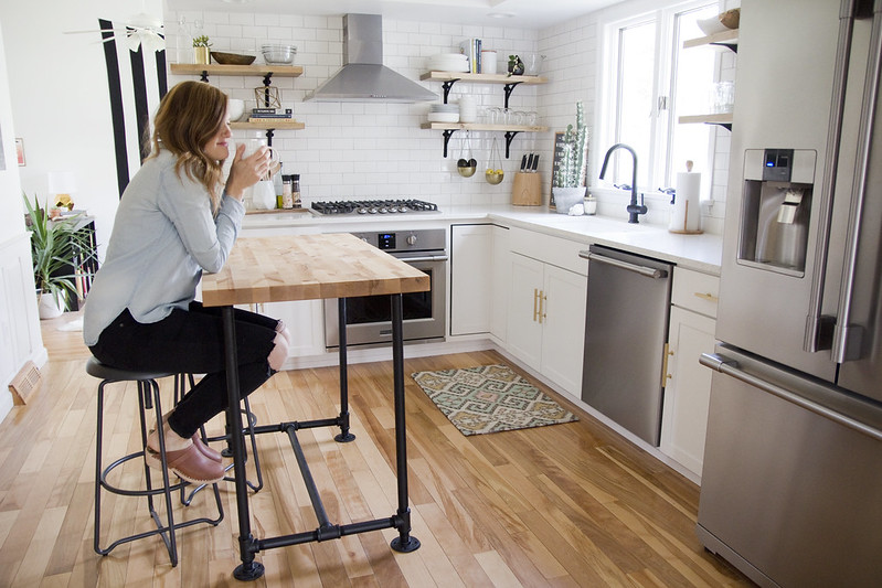 I Wanted A Slightly Taller Island For Ease Of Food Prep But You Will Have  To Plan Accordingly For Stools. A Counter Height Stool Is ...