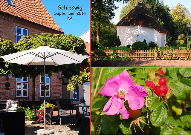Schleswig am Ostseefjord Schlei ... Stadtbummel ... Funde und Entdeckungen ... Impressionen vom September 2016 ... Fotos und Fotocollagen: Brigitte Stolle