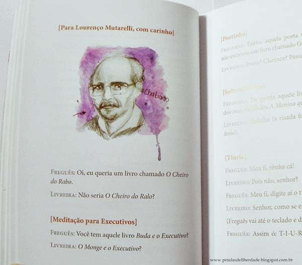 trecho livro manual prático de bons modos em livrarias