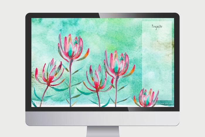 Projects Watercolor Desktop Wallpaper