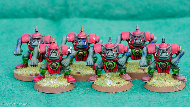 Bloodbowl Orc Team Linesmen