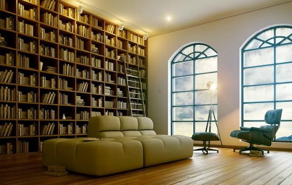 Những mẫu phòng đọc sách cần cho nhà ở hiện đại