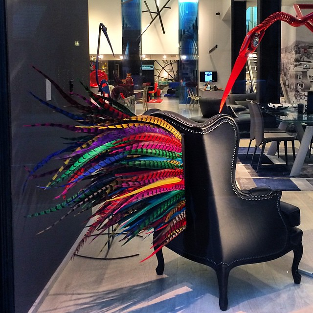 ... Maintenon Chair With Dyed Pheasant Feathers #rochebobois #furniture  #interiordesign #newyork #windowshopping