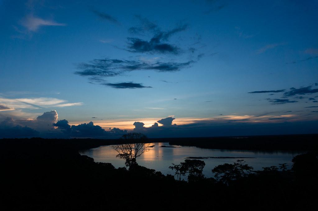 Sunset on Rio Napo