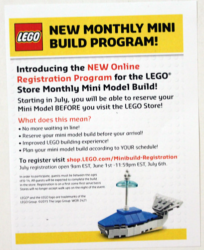 LEGO Monthly Mini Build Changes