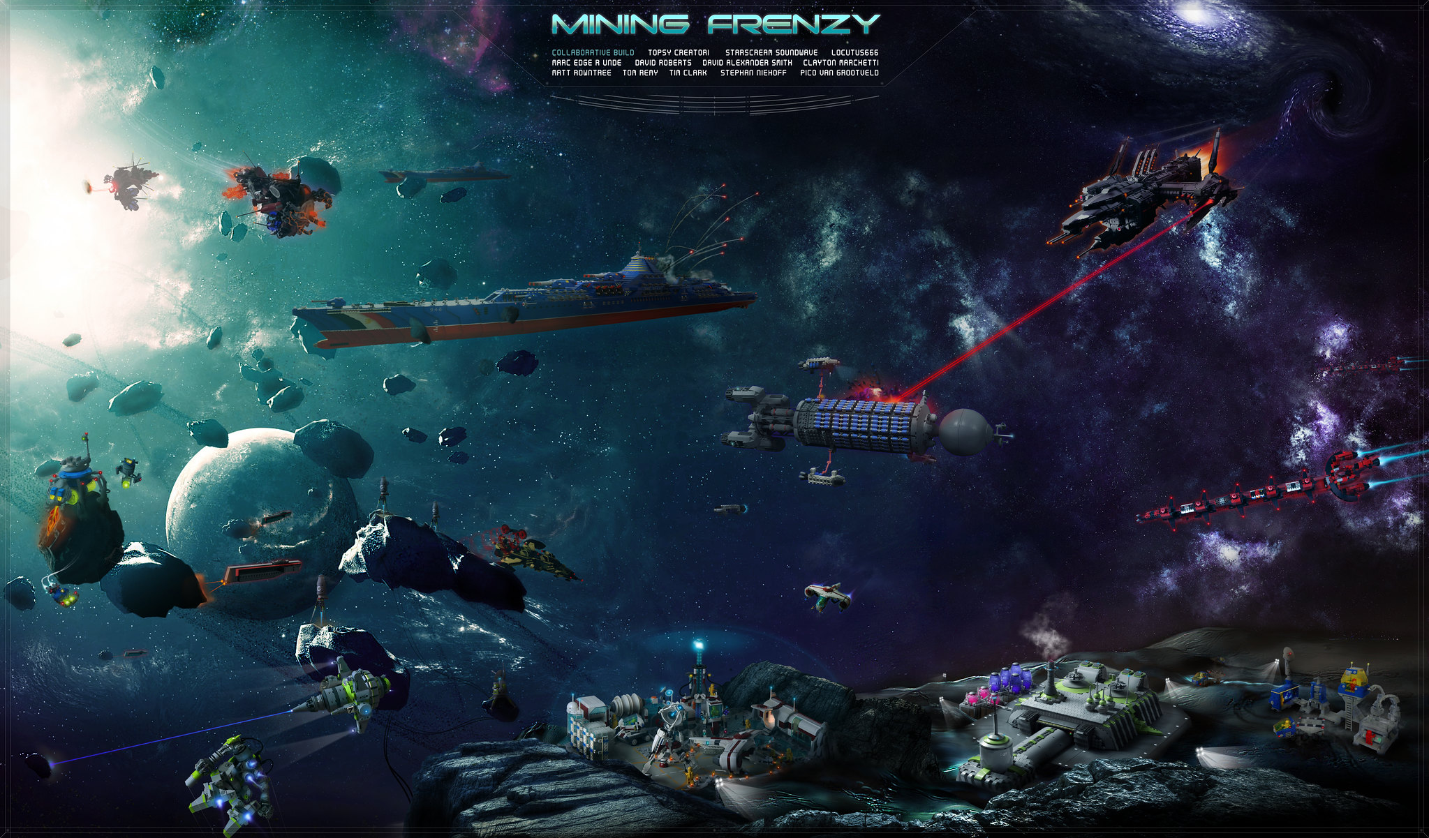Mining Frenzy, a digital LEGO space collaboration