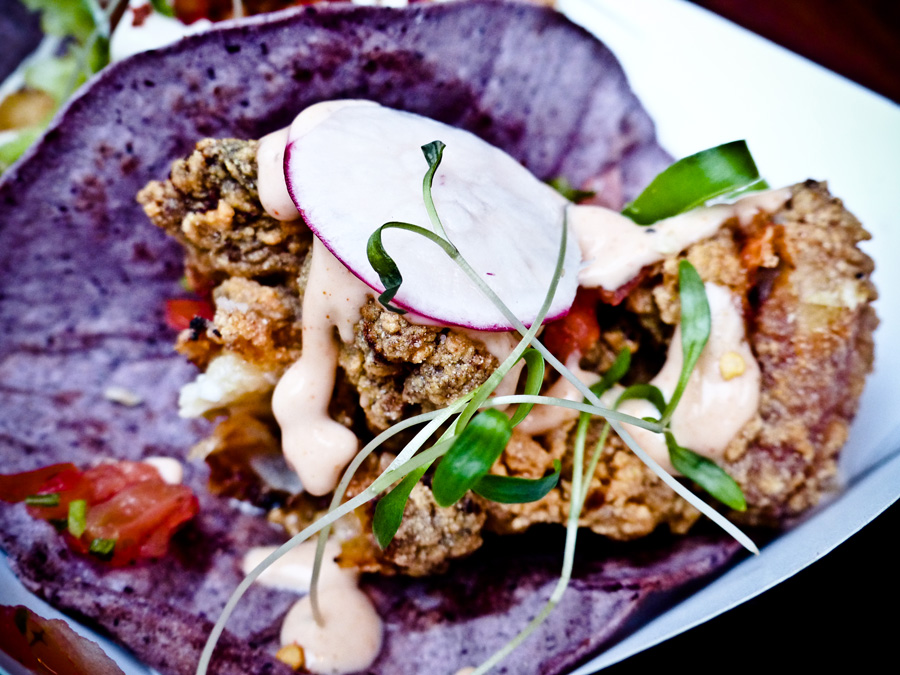 Chicken-Tacos,-Dalston-Street-Feast,-London