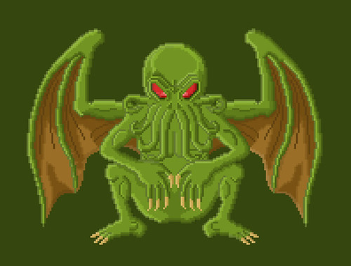 Cthulhu - Lovecraft Pixel Art | by Gwendal_