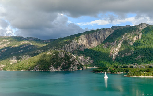 Sailing on the Lysefjord