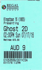 Ghostbusters ticketstub