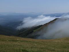 Bajando se cubrió de niebla la cresta.