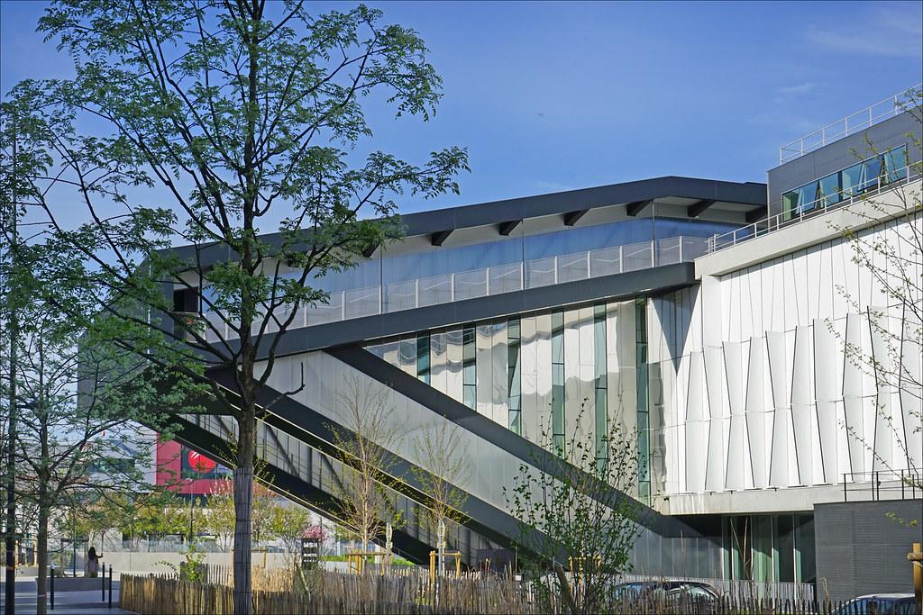 La maison des sciences de l 39 homme paris nord la fa ade for Architecte 3d 2001