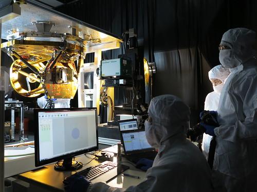 4.遙測取像儀的主次鏡進行干涉儀量測作業