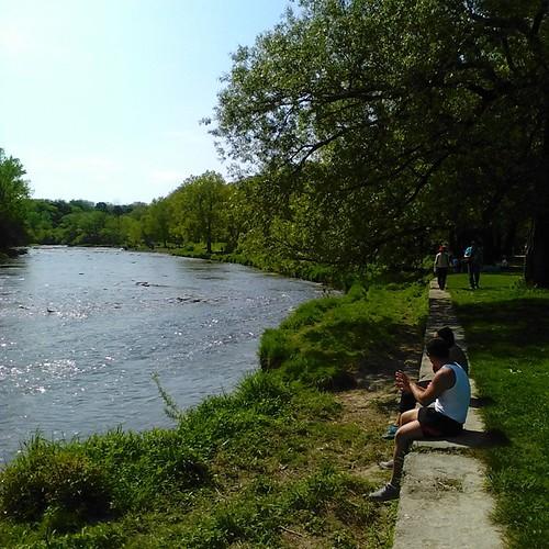 Humber River, upstream #toronto #humberriver #oldmill #etiennebrulepark #parks