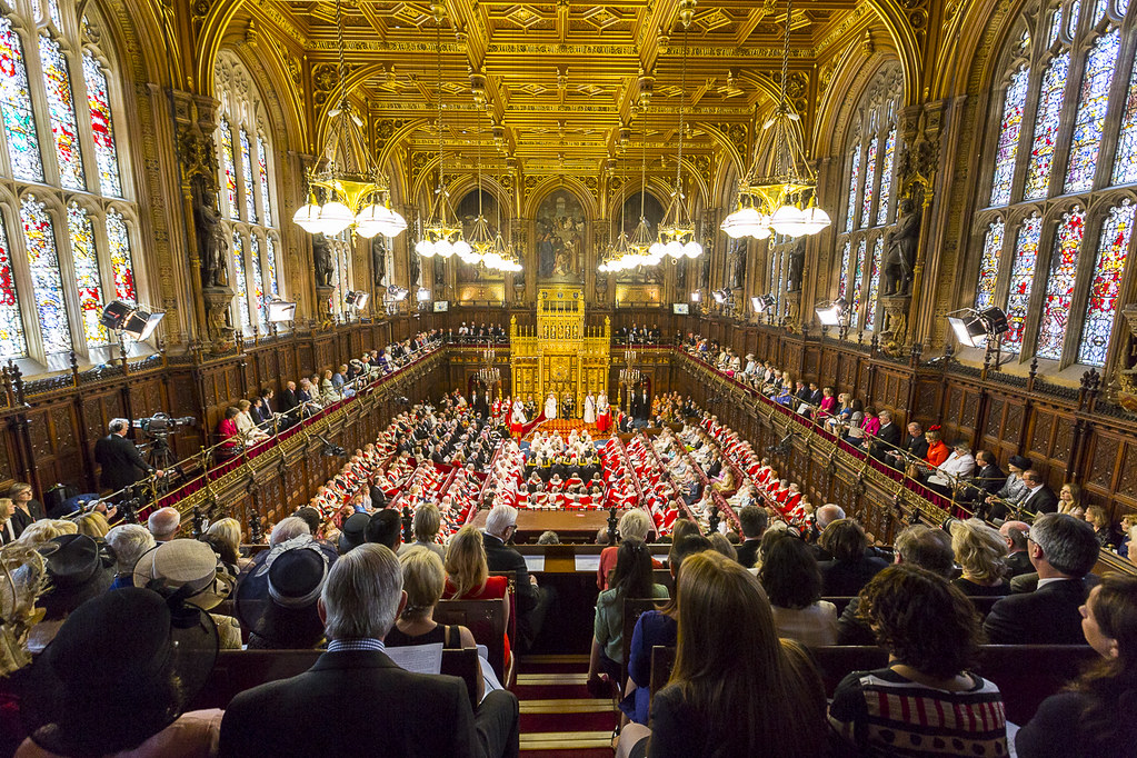 Royal Party Enter The Lords Chamber The Lords Chamber Is
