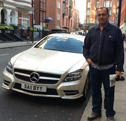 Diamante covered Mercedes in London