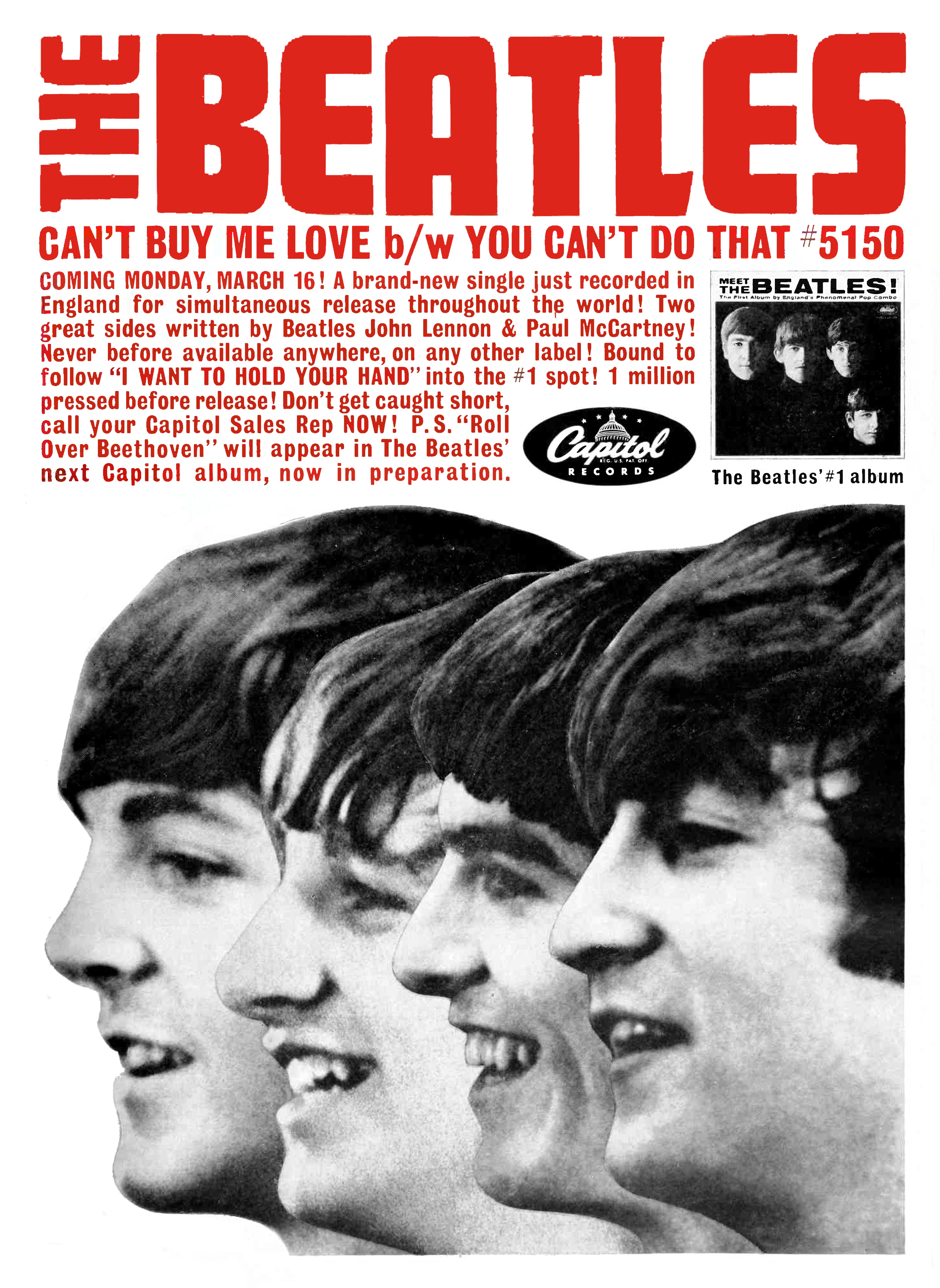 The Beatles - Can't Buy Me Love b/w You Can't Do That - 1964