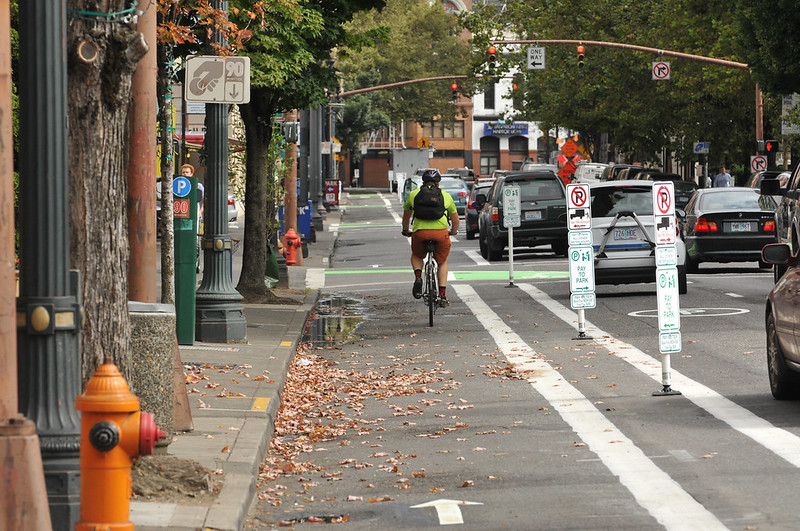 New bikeway on SW 2nd Avenue-4.jpg