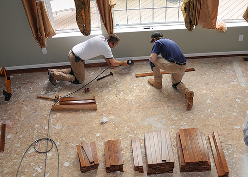 The majority of renovations is being done by professional builders