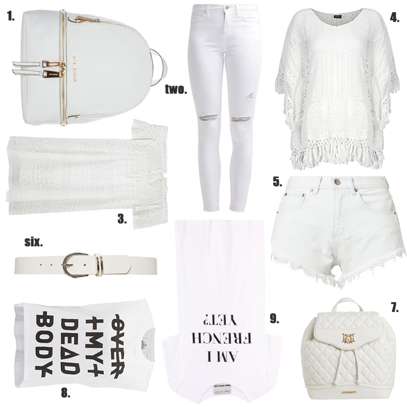 all white casual