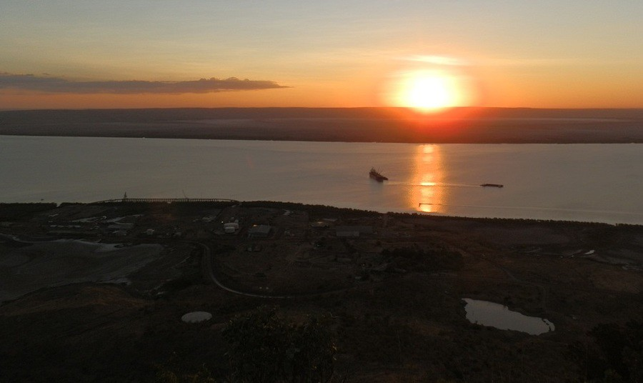Sunset from the Five Rivers Lookout, Wyndham, Western Australia