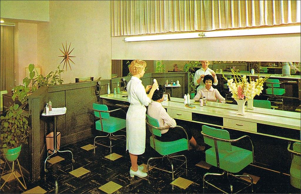 1950s 1960s lorraine beauty salon alhambra california for 1950 beauty salon