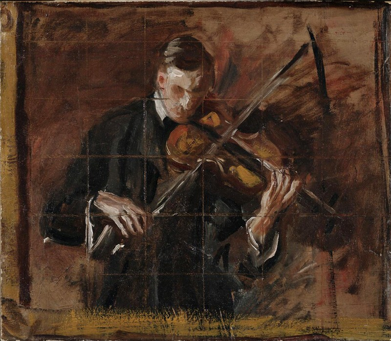 Thomas Eakins - Sketch for Music 'The violinist' (c.1904)